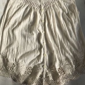 American Eagle Outfitters Tops - American Eagle lace racerback tank top md
